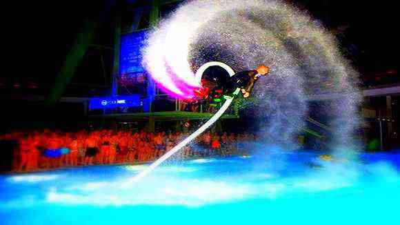 Backflip nocturno Flyboard